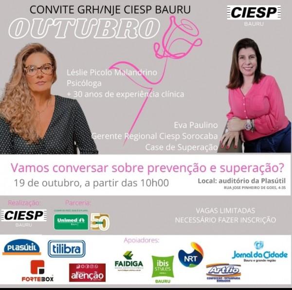 Gerente do CIESP Sorocaba participa de evento do CIESP Bauru sobre Outubro Rosa